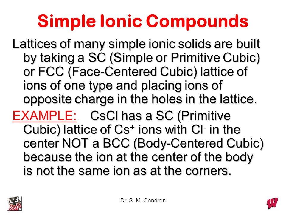 Simple Ionic Compounds
