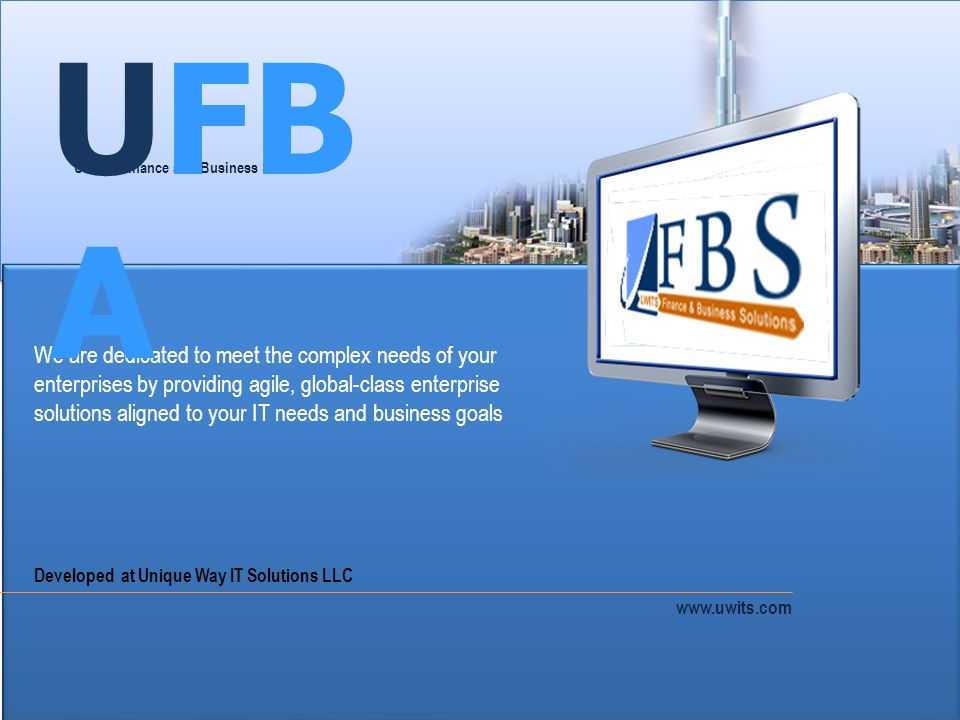 UFBA UWITS Finance and Business Solutions.