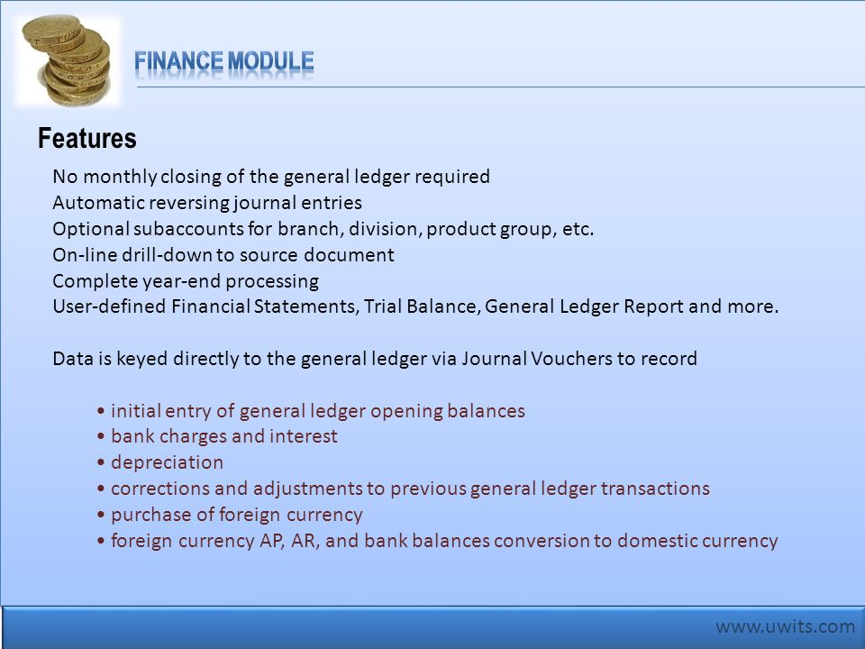 Features Finance Module