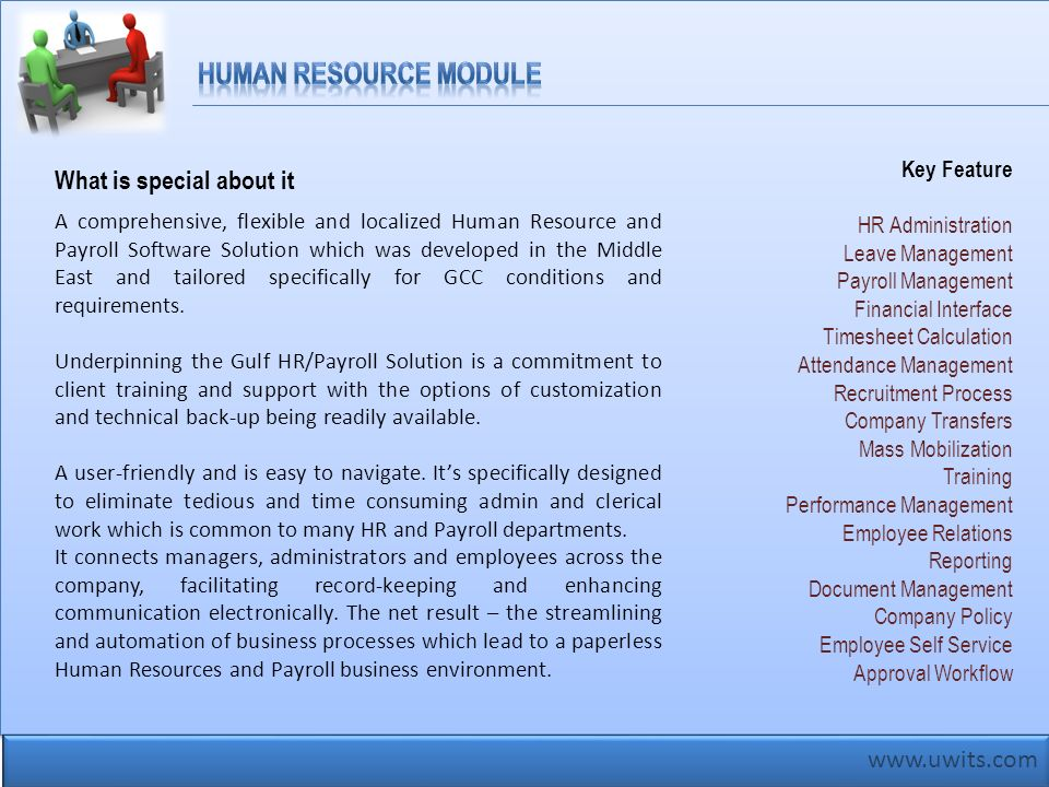 Human Resource Module What is special about it www.uwits.com
