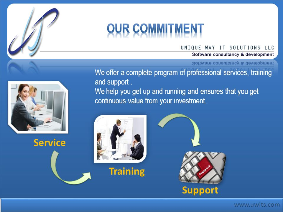 Our Commitment Service Training Support