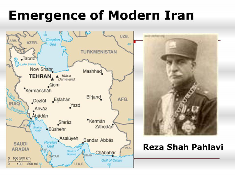 Emergence of Modern Iran