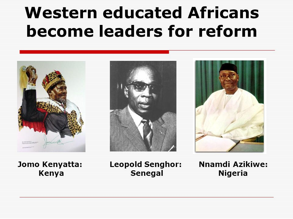 Western educated Africans become leaders for reform