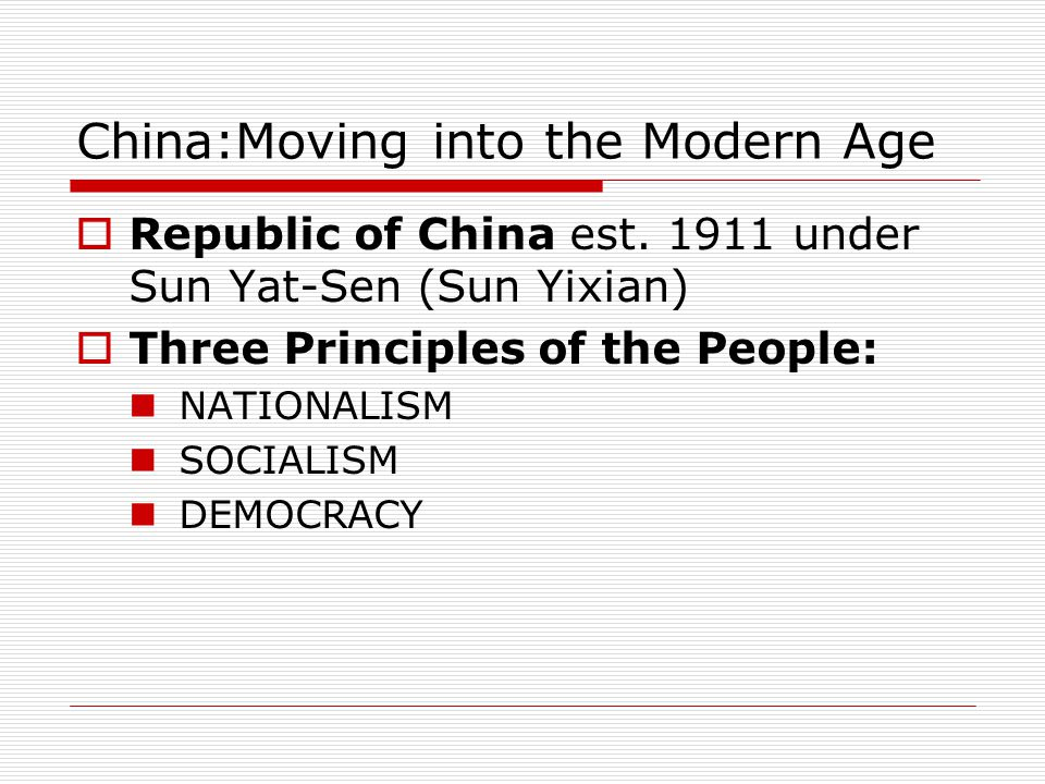 China:Moving into the Modern Age