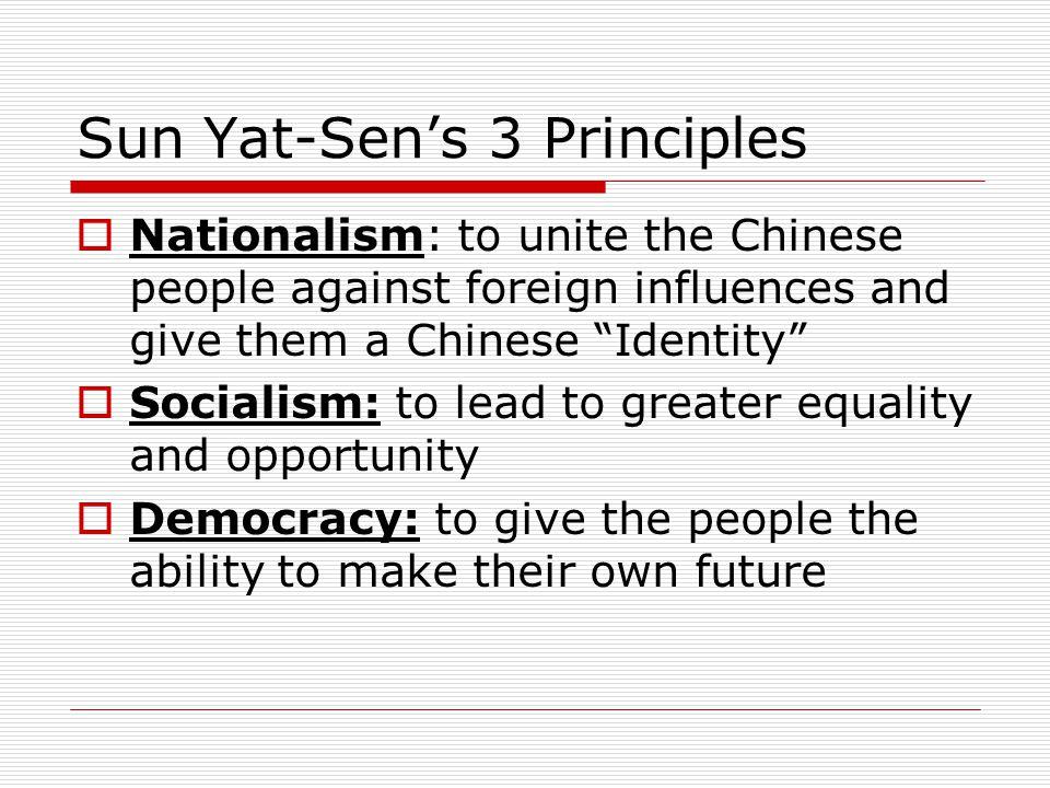 Sun Yat-Sen's 3 Principles