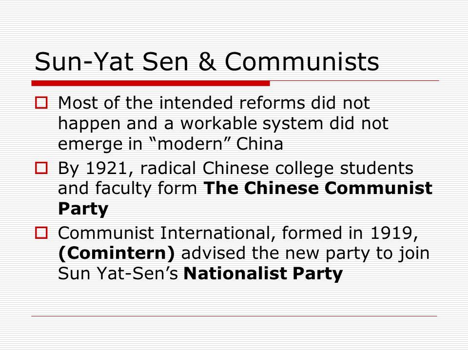 Sun-Yat Sen & Communists