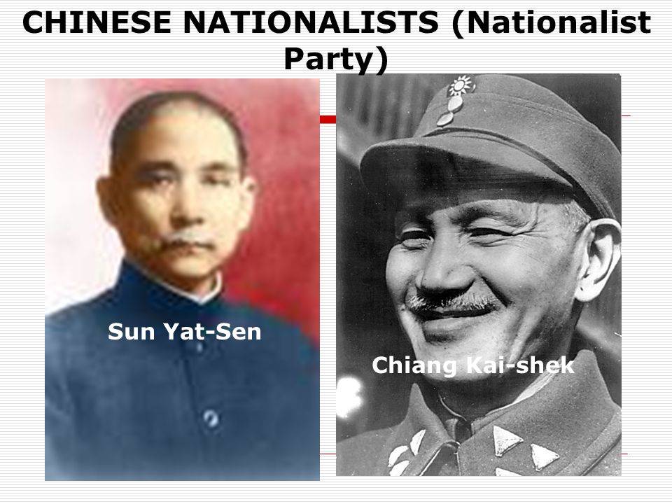 CHINESE NATIONALISTS (Nationalist Party)