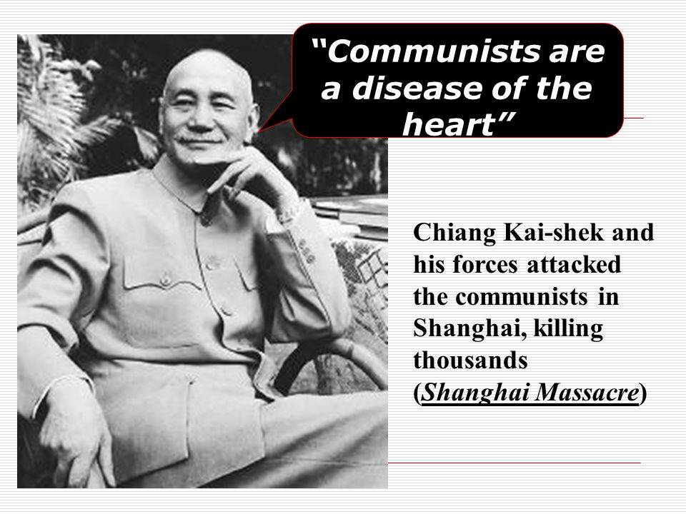 Communists are a disease of the heart