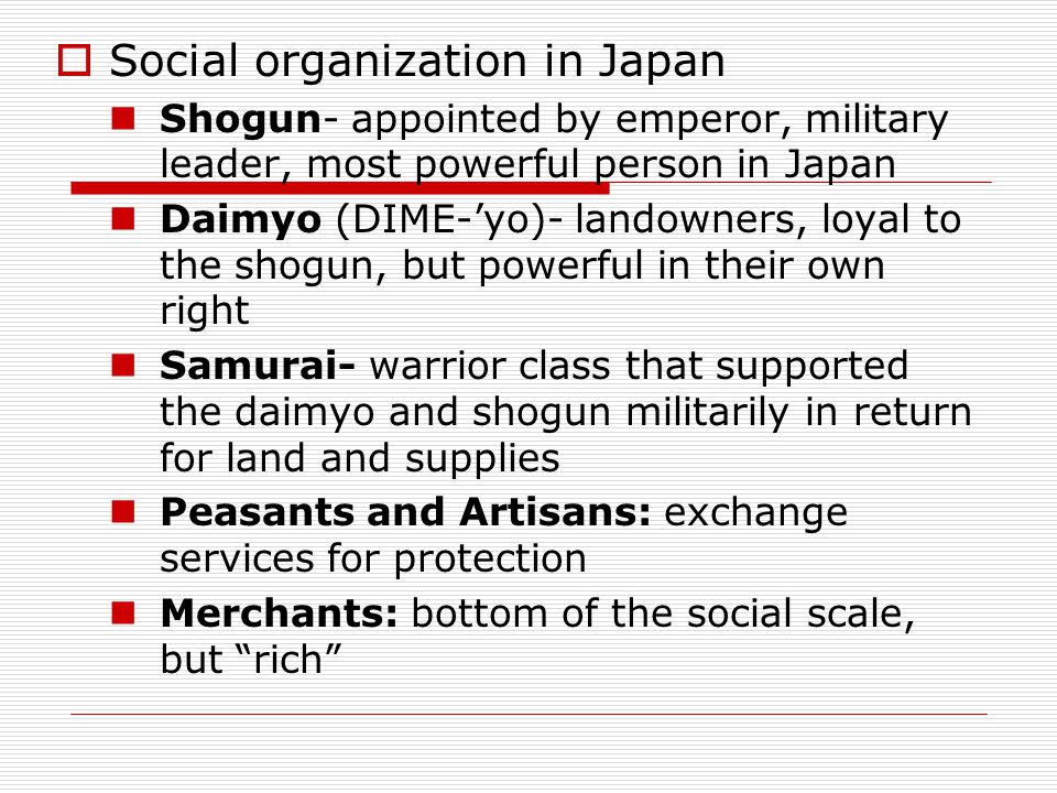 Social organization in Japan