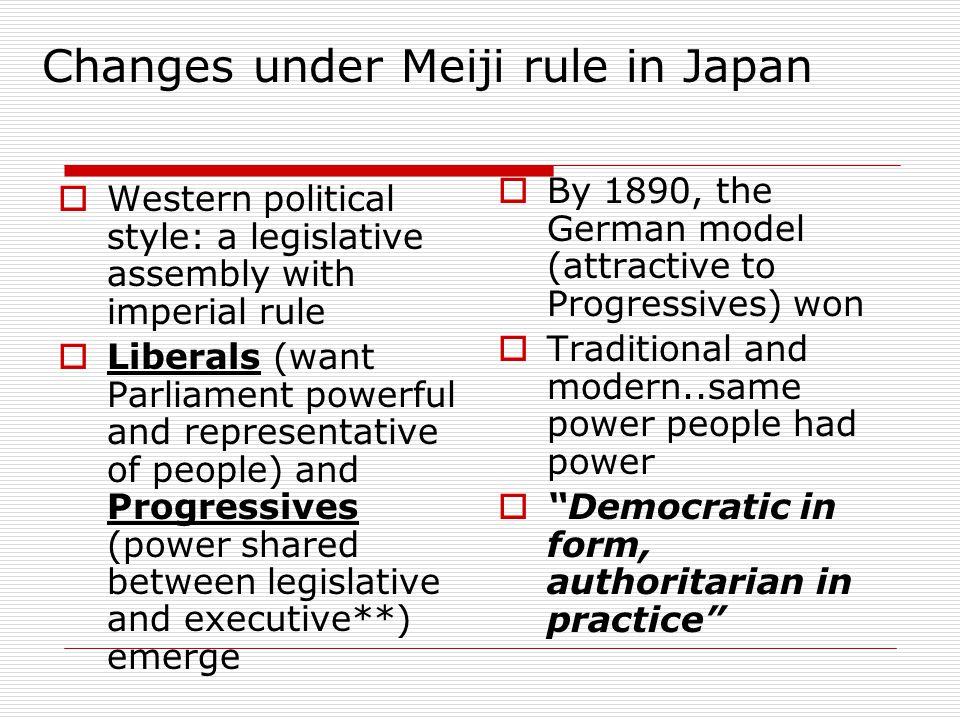 Changes under Meiji rule in Japan