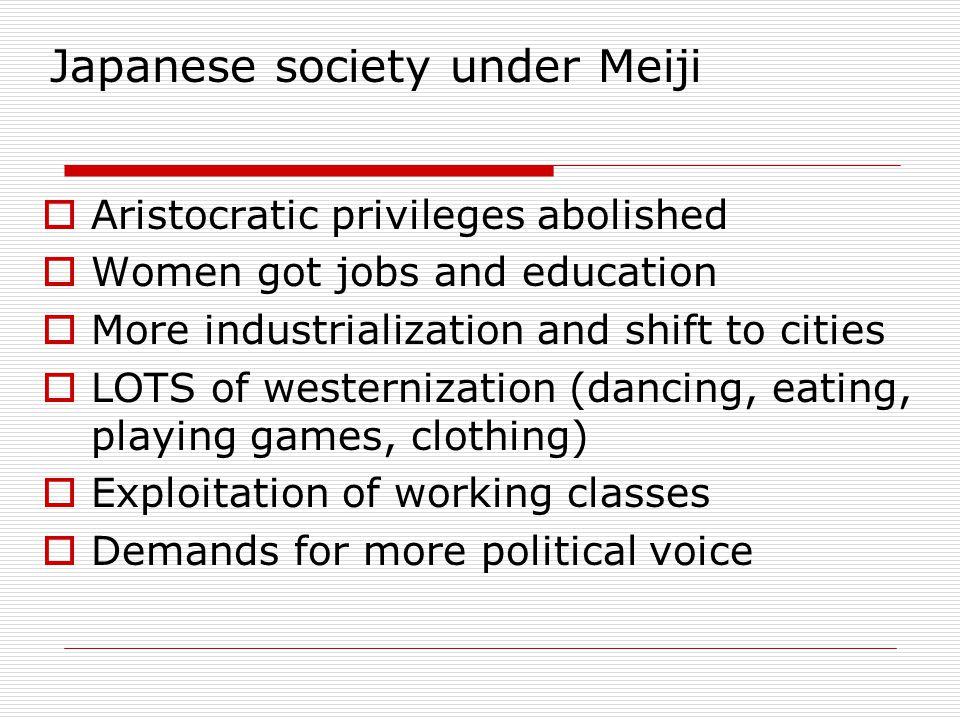 Japanese society under Meiji