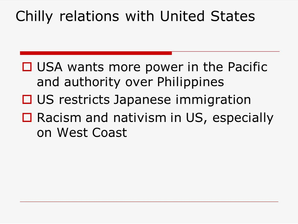 Chilly relations with United States