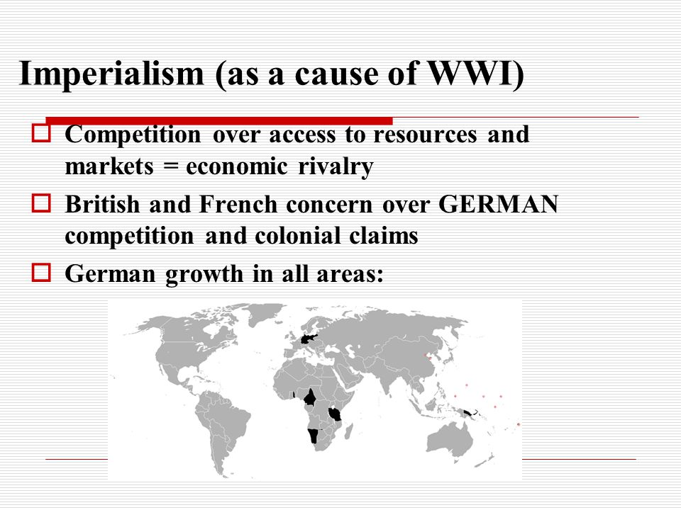 Imperialism (as a cause of WWI)