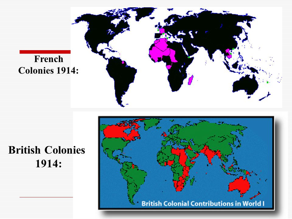 French Colonies 1914: British Colonies 1914: