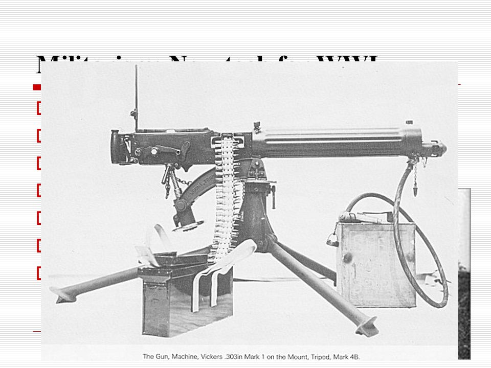 Militarism: New tech for WWI