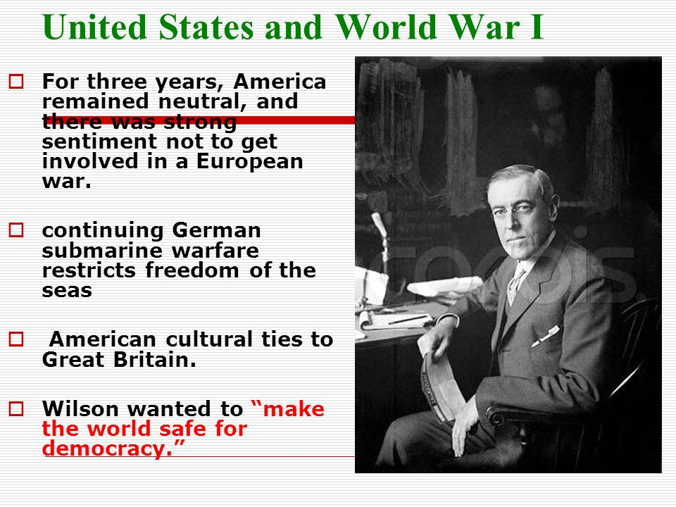 United States and World War I