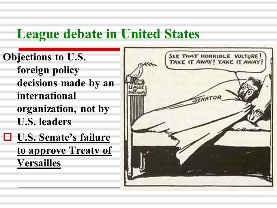 League debate in United States