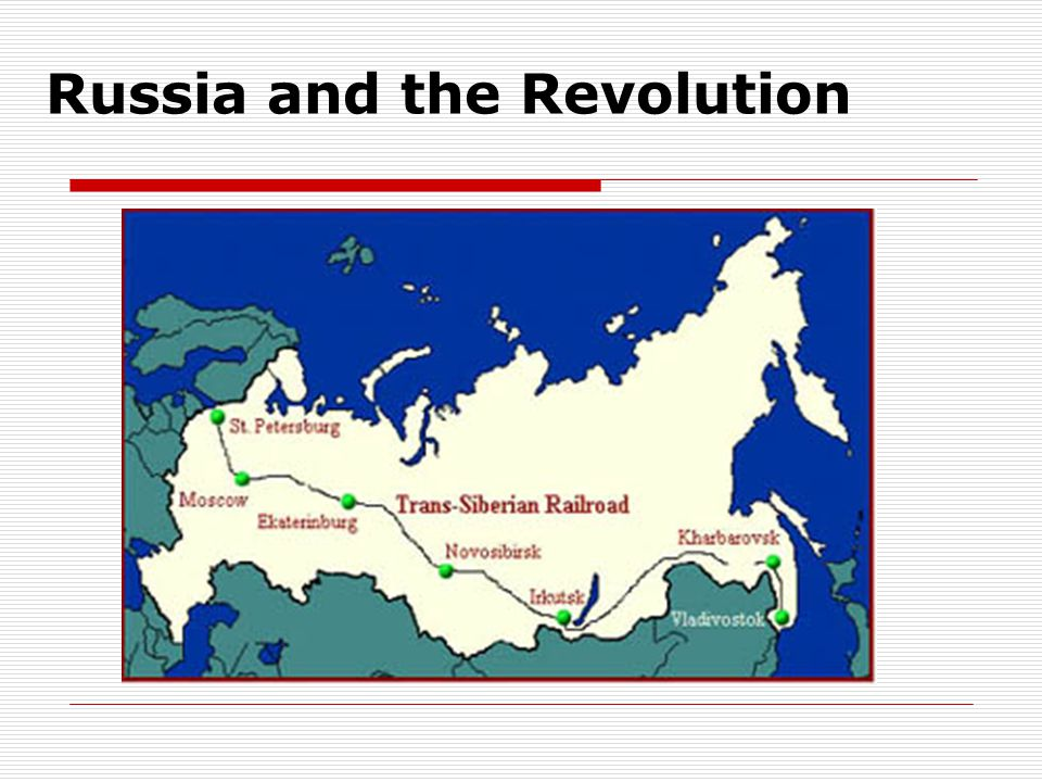 Russia and the Revolution
