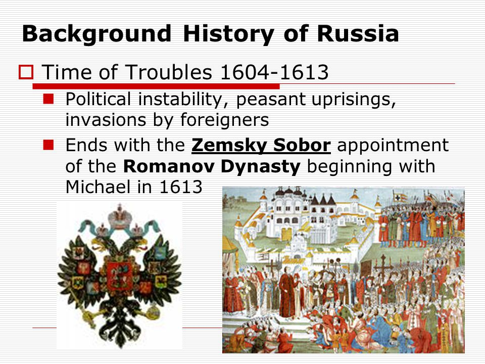 Background History of Russia