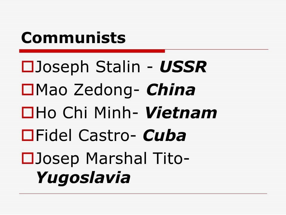 Josep Marshal Tito- Yugoslavia