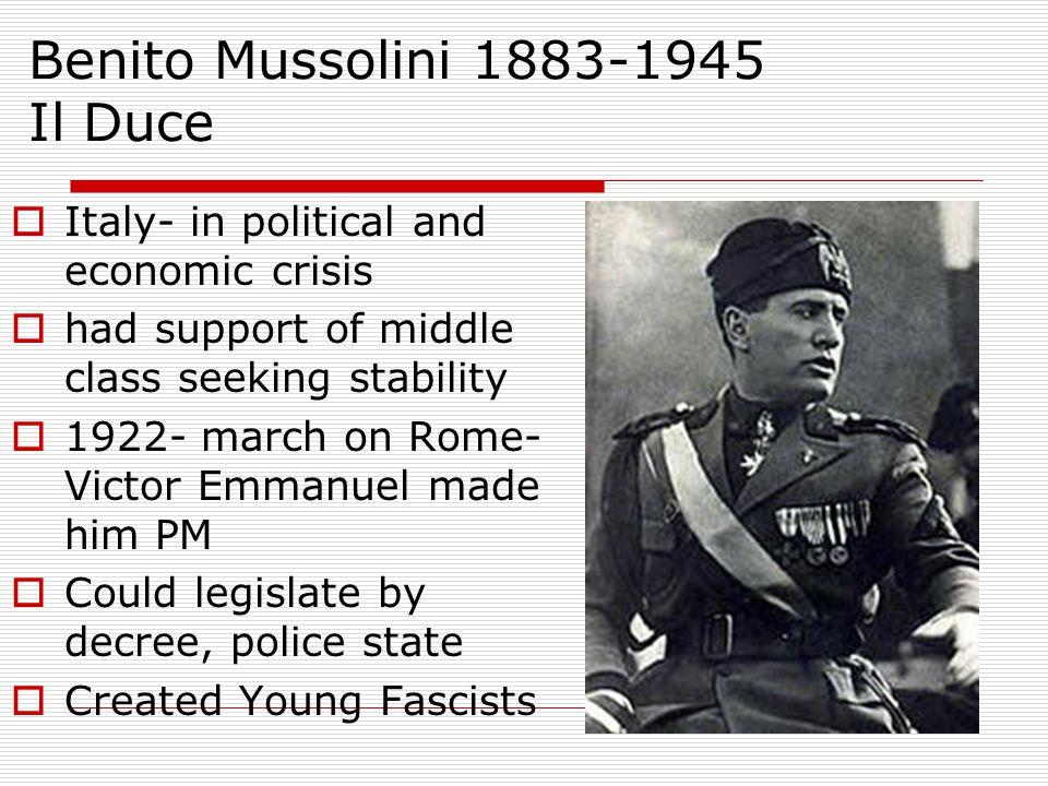 Benito Mussolini 1883-1945 Il Duce