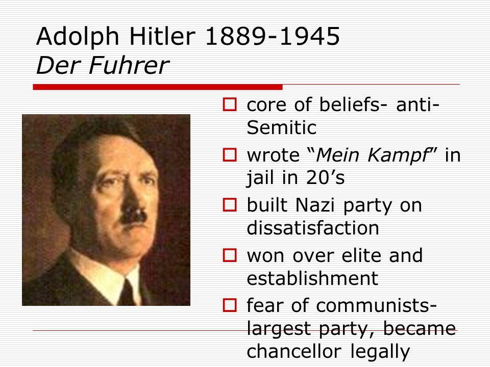Adolph Hitler 1889-1945 Der Fuhrer