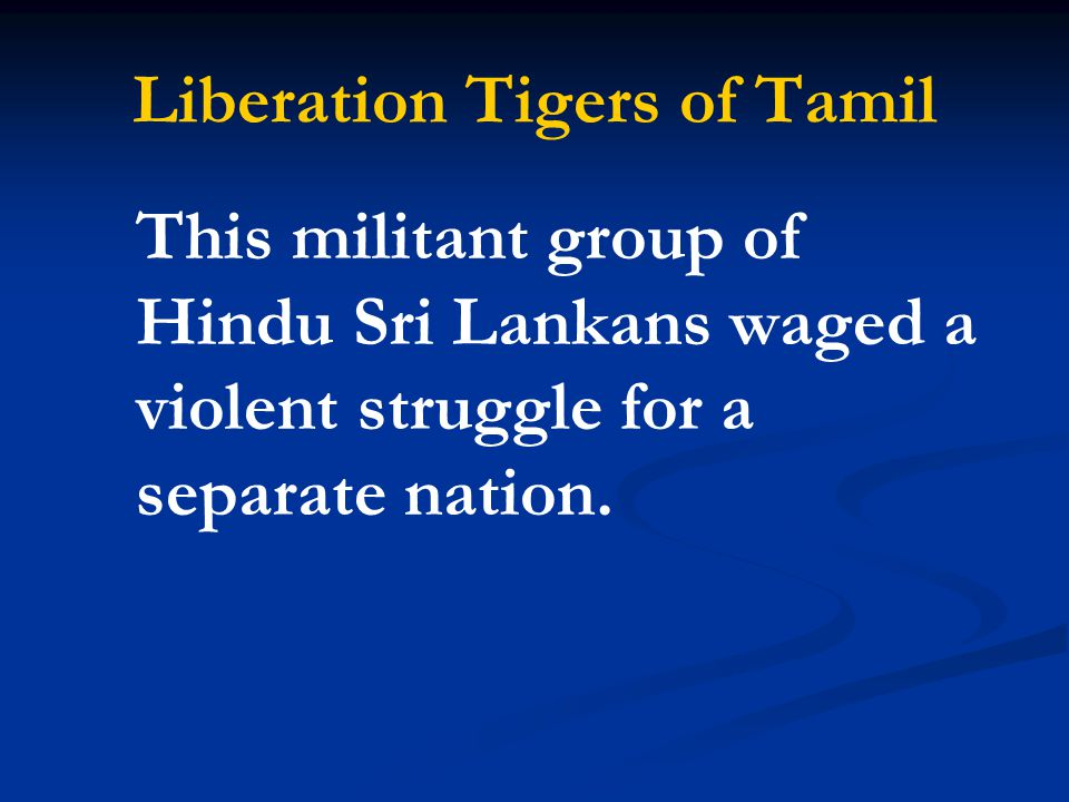 Liberation Tigers of Tamil