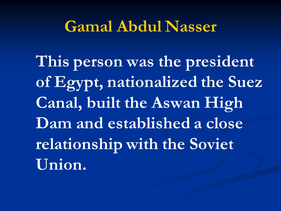 Gamal Abdul Nasser