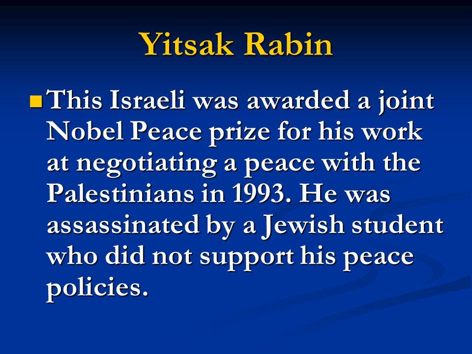 Yitsak Rabin