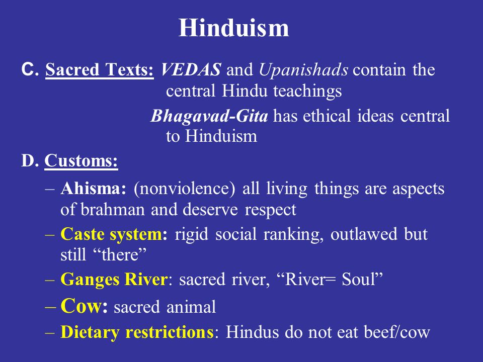 Hinduism Cow: sacred animal