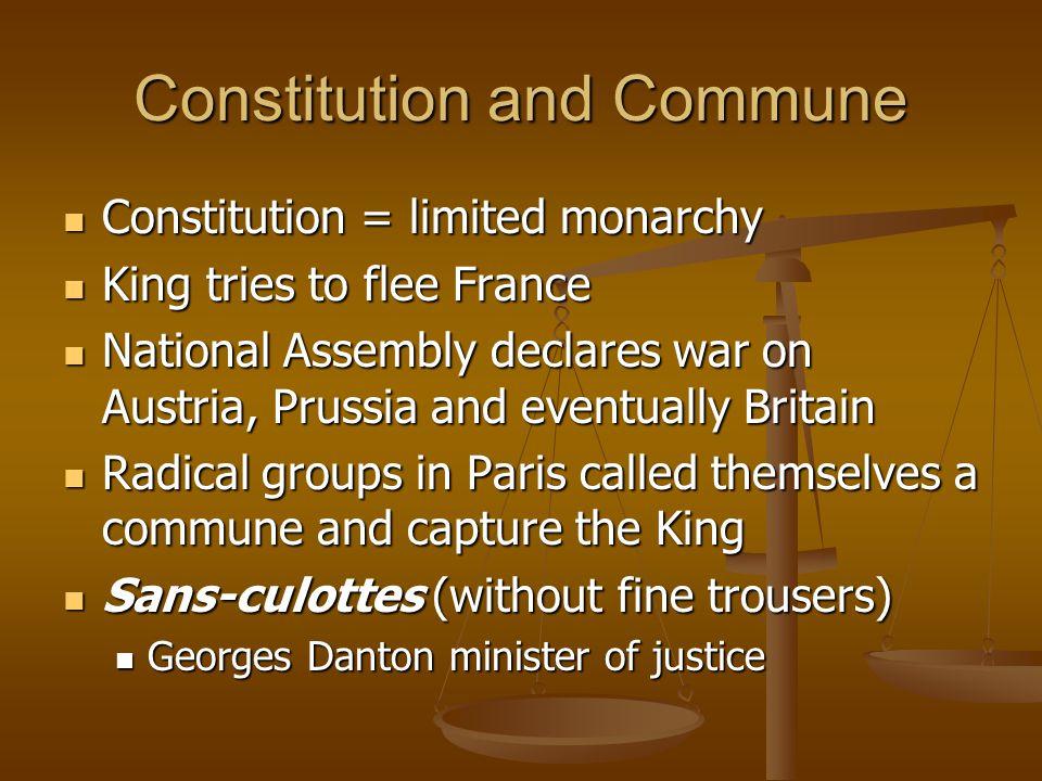 Constitution and Commune