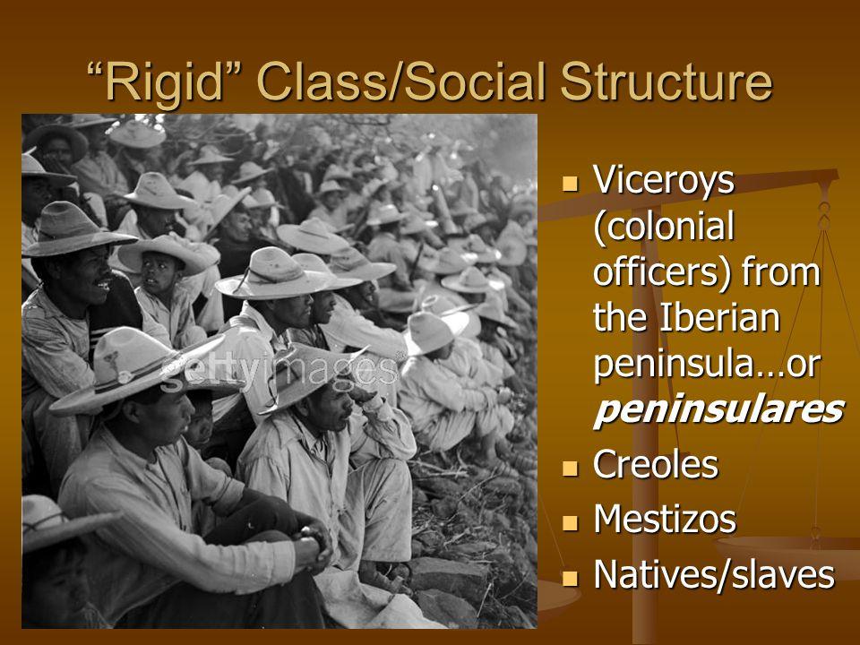 Rigid Class/Social Structure