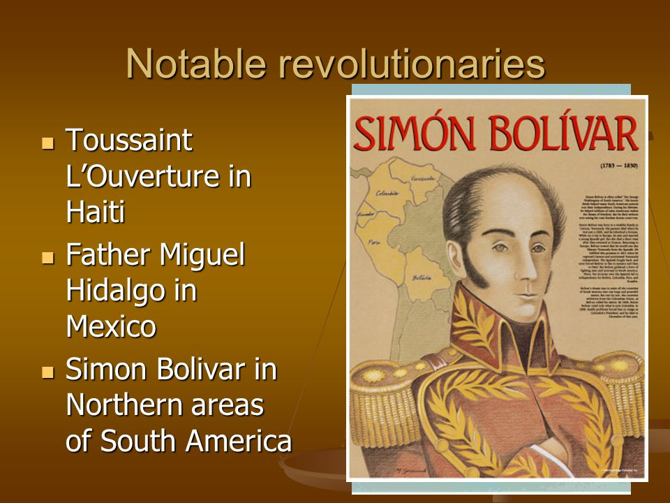 Notable revolutionaries