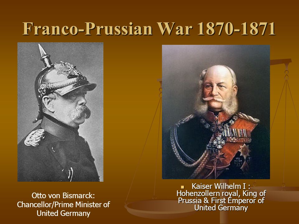 Otto von Bismarck: Chancellor/Prime Minister of United Germany