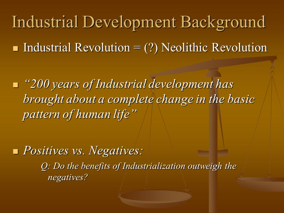Industrial Development Background