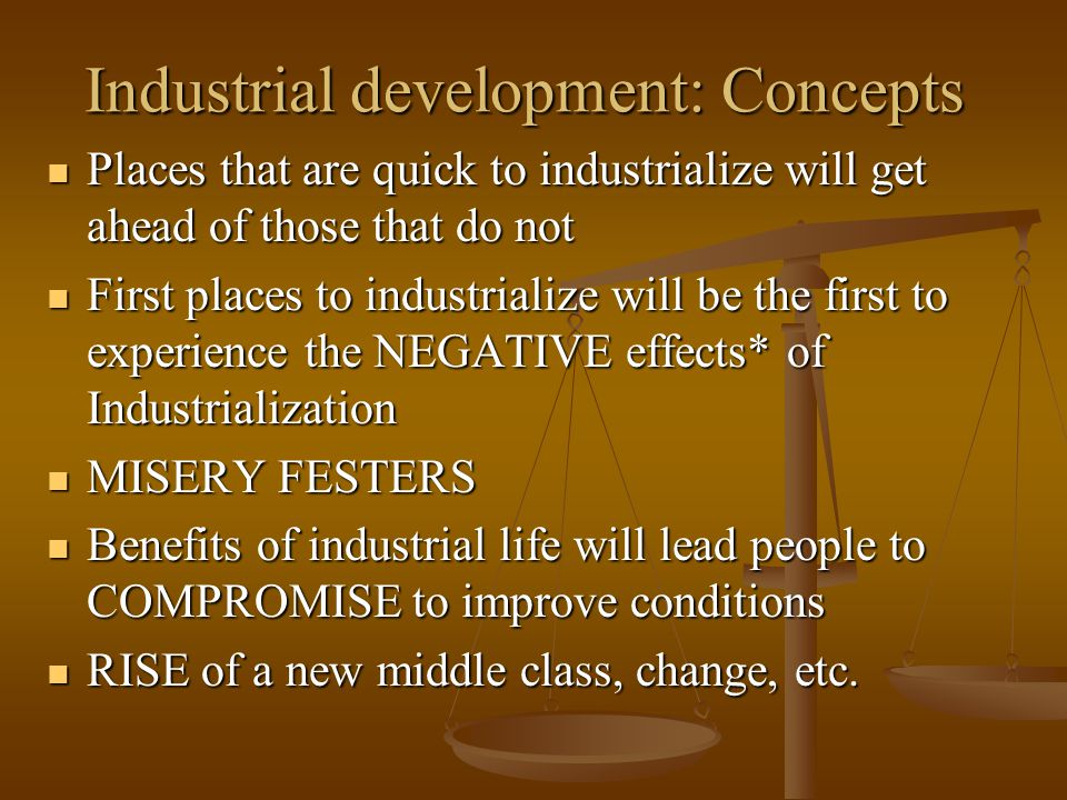 Industrial development: Concepts