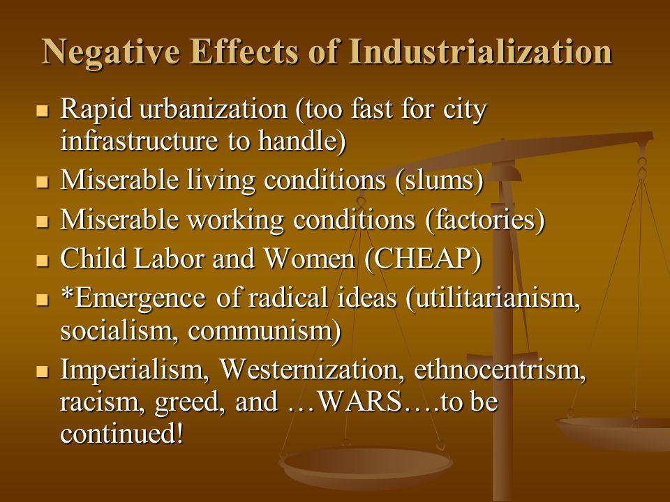 Negative Effects of Industrialization