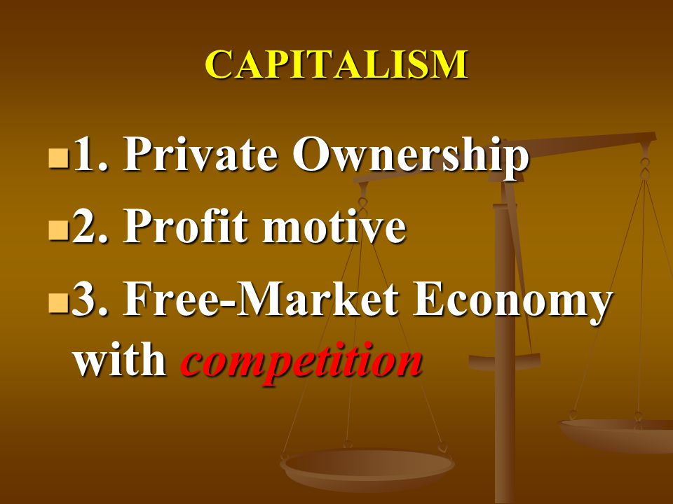 3. Free-Market Economy with competition