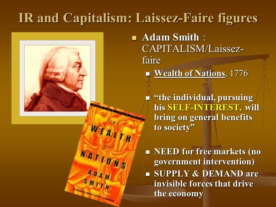 IR and Capitalism: Laissez-Faire figures