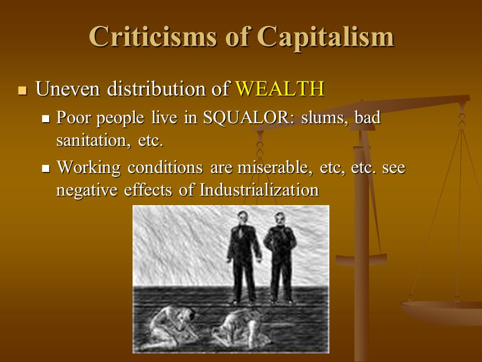 Criticisms of Capitalism