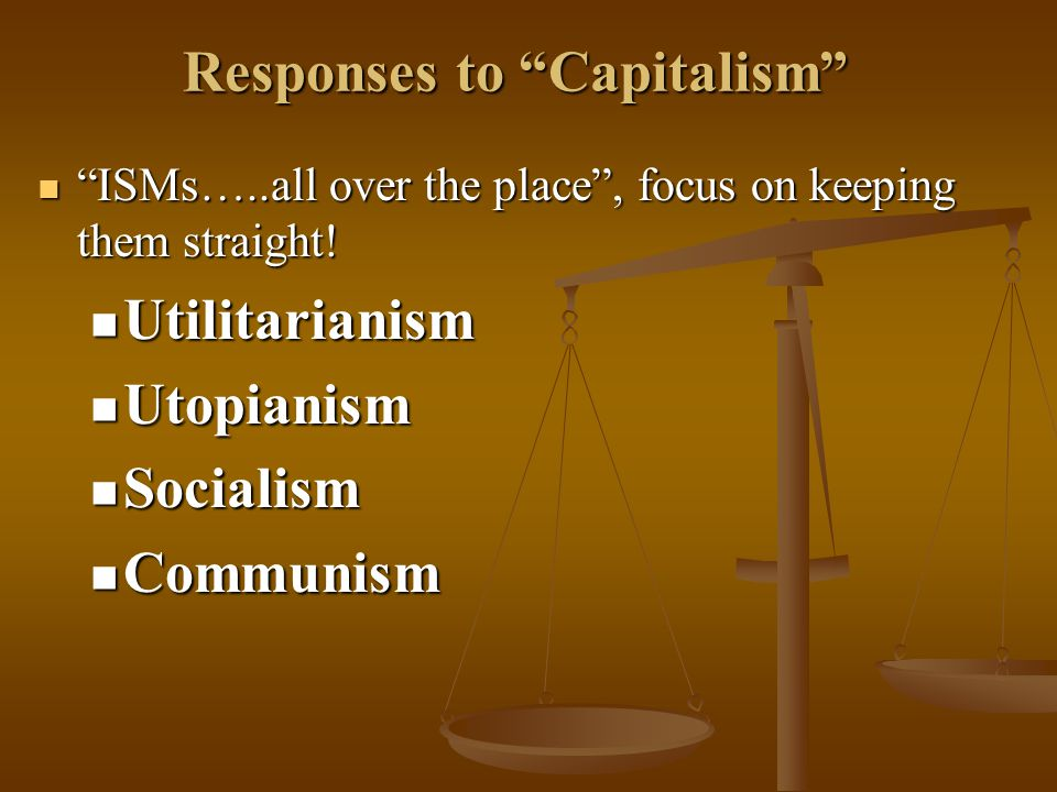 Responses to Capitalism