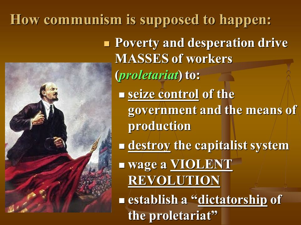 How communism is supposed to happen: