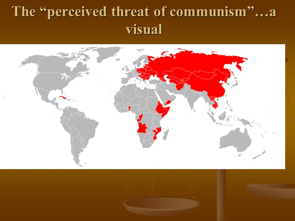 The perceived threat of communism …a visual