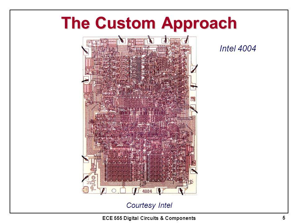 The Custom Approach Intel 4004 Courtesy Intel