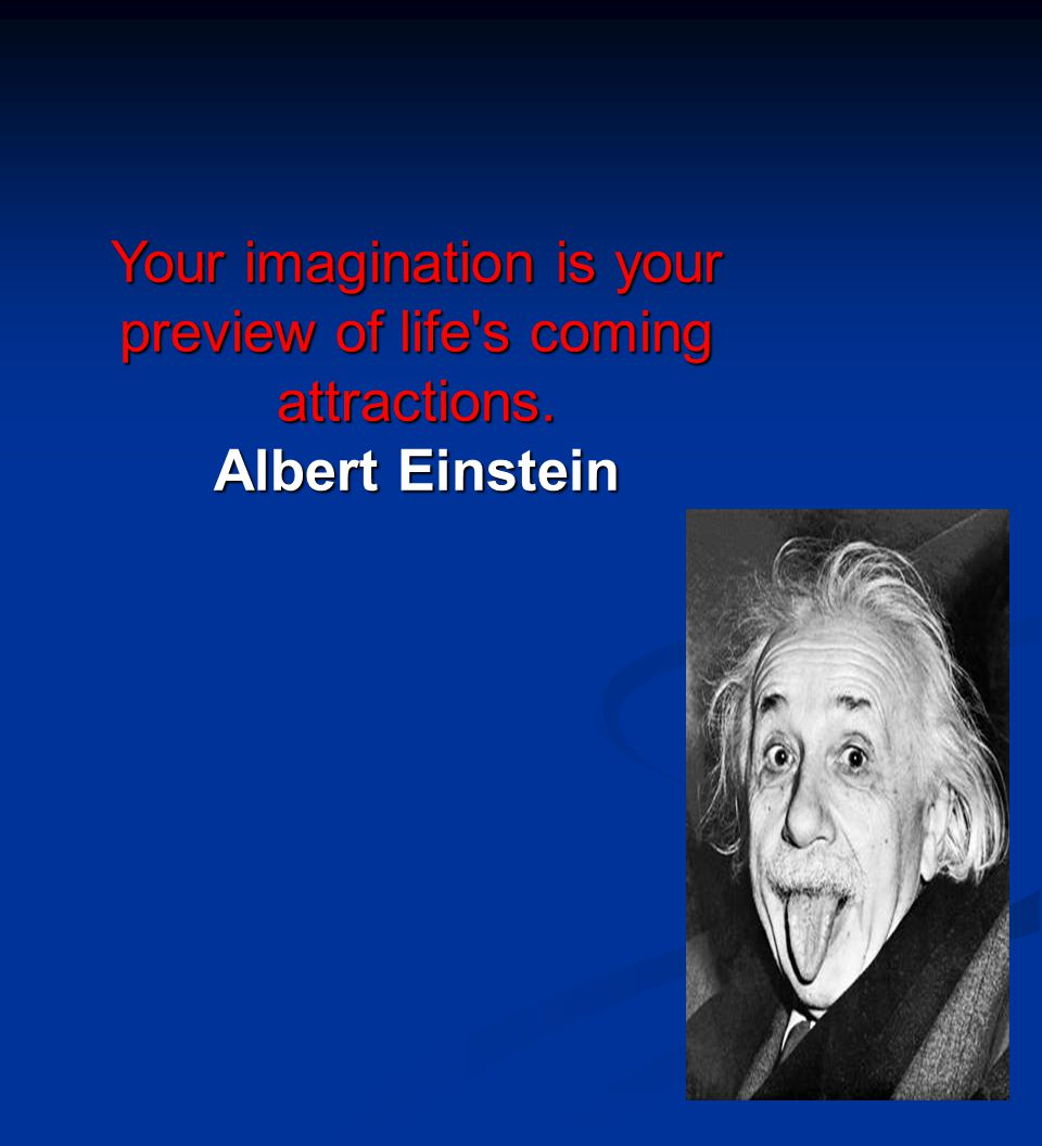 Your imagination is your preview of life s coming attractions