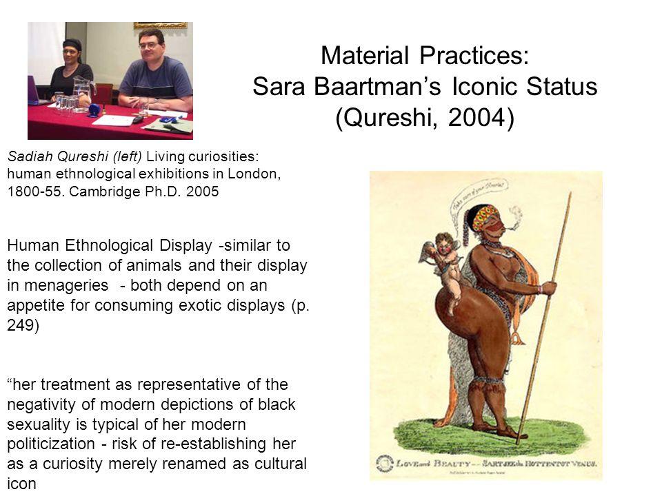 Material Practices: Sara Baartman's Iconic Status (Qureshi, 2004)