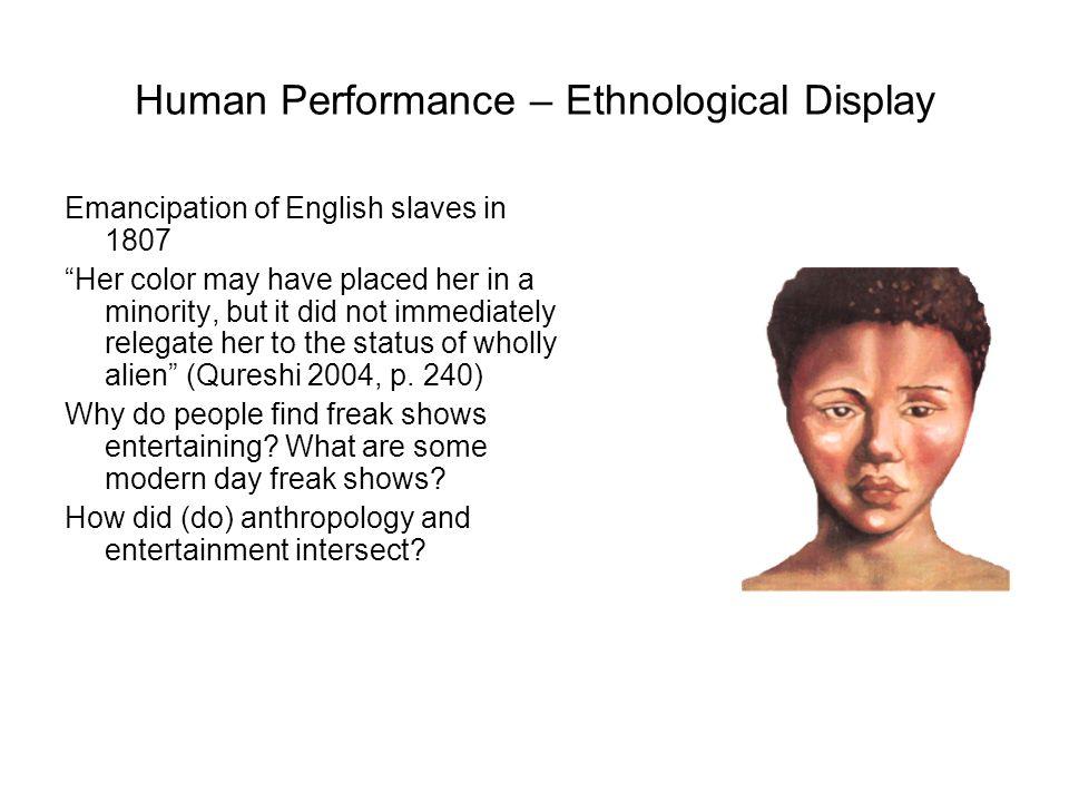 Human Performance – Ethnological Display