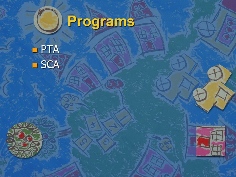 Programs PTA SCA