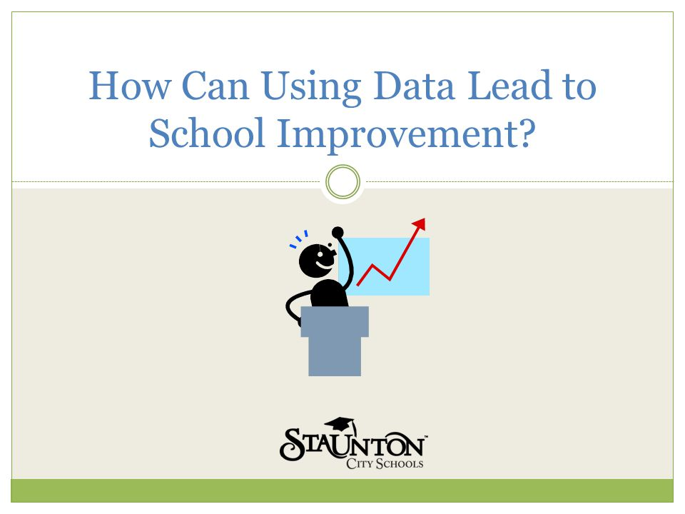How Can Using Data Lead to School Improvement