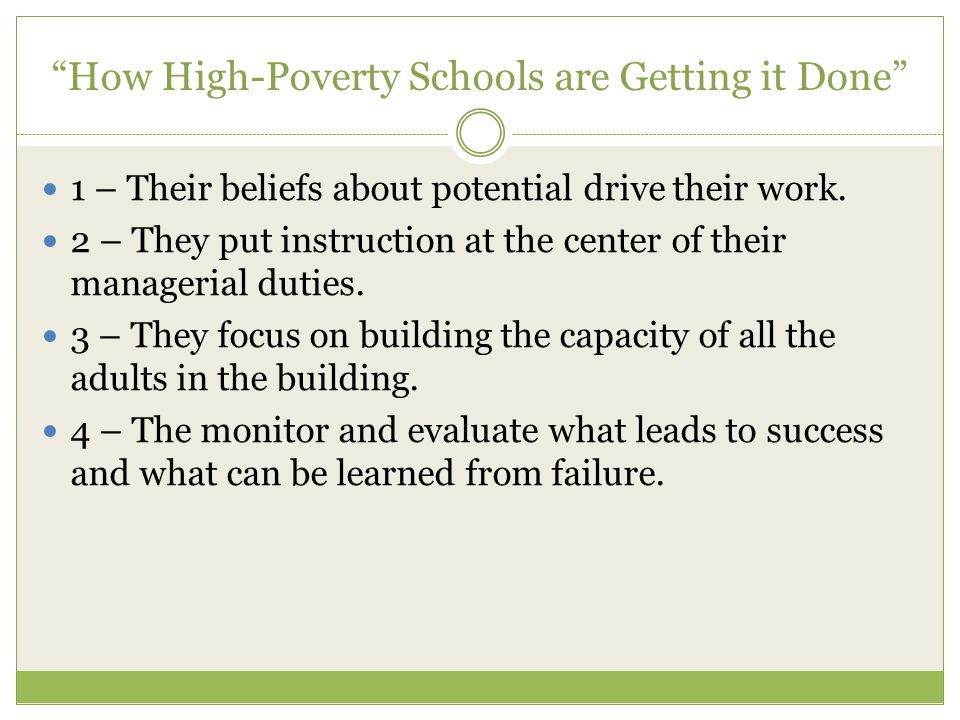 How High-Poverty Schools are Getting it Done